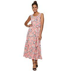 Women's Nina Leonard Floral Midi Dress