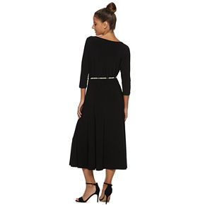 Women's Nina Leonard Solid Midi Dress
