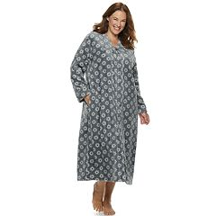 Plus Size Croft & Barrow® Plush Zip Robe
