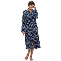 Petite Croft & Barrow® Plush Zip Robe