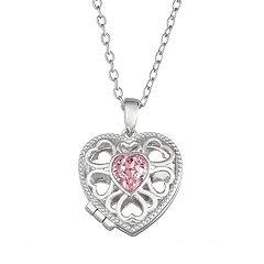 Brilliance Heart Locket with Swarovski Crystals