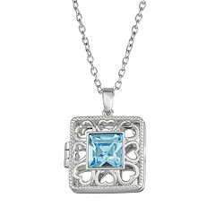 Brilliance Square Locket with Swarovski Crystal