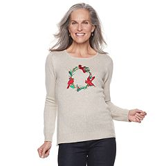 Women's Croft & Barrow® Crewneck Holiday Sweater