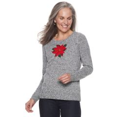 Womens Regular Christmas Sweaters Tops Clothing Kohls