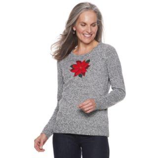 Women's Croft & Barrow® Crewneck Holiday Sweater