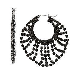 Simpy Vera Vera Wang Beaded Hoop Earrings