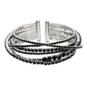 Simply Vear Vera Wang Rhinestone Chain Bangle Bracelet