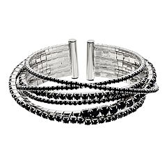 Simply Vear Vera Wang Rhinestone Chain Bangle Bracelet