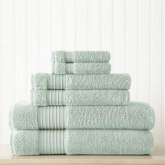 Allure 6-pack Lifestyle Turkish Cotton Bath Towel Set