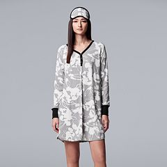 Women's Simply Vera Vera Wang Sleepshirt & Eye mask Set