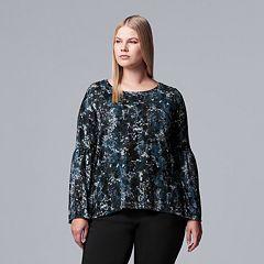 Plus Size Simply Vera Vera Wang High-Low Jersey Top