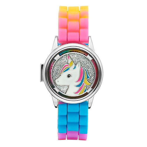 Limited Too Kids' Unicorn Spinner Flip-Up Lid Watch
