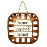 """New View """"Home Sweet Home"""" Basket Wall Decor"""