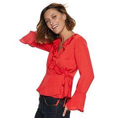 Women's POPSUGAR Ruffle Faux-Wrap Top