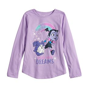 """Disney's Vampirina Girls 4-10 """"Chase Your Dreams"""" Graphic Tee by Jumping Beans®"""
