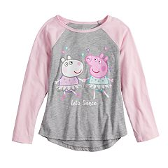Girls 4-10 Jumping Beans® Peppa Pig 'Let's Dance' Raglan Tee