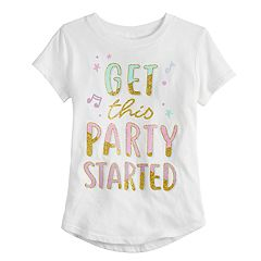 Girls 4-10 Jumping Beans® 'Get This Party Started' Glittery Graphic Tee