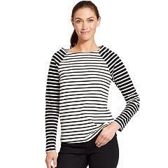 Women's IZOD Striped Elbow-Patch Top