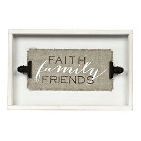 "New View ""Faith Family Friends"" Wall Decor"