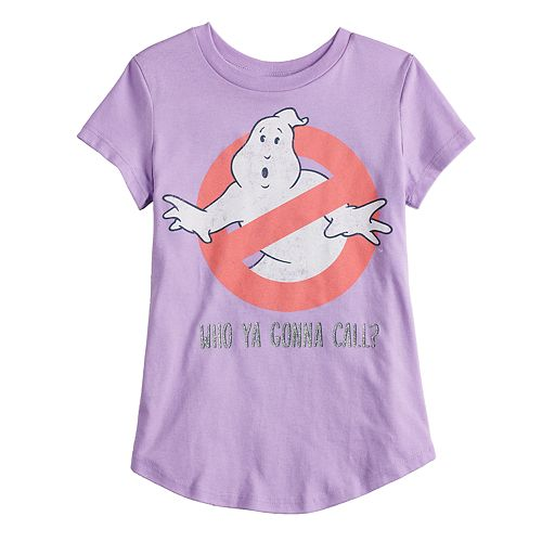 """Girls 4-10 Jumping Beans® Ghostbusters """"Who Ya Gonna Call?"""" Glittery Graphic Tee"""