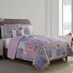 VCNY Azure Reversible Quilt Set