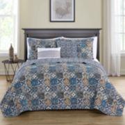VCNY 5-piece Azau Reversible Quilt Set