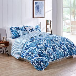VCNY Tropical 5-piece Reversible Quilt Set