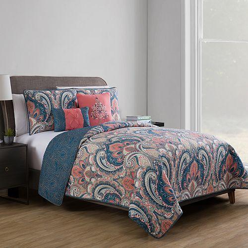 Vcny Casa Re Al Reversible Quilt Set