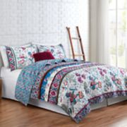 VCNY Floral Spell Reversible Quilt Set