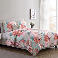 VCNY Jodi Floral Quilt Set