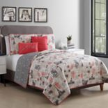 VCNY Jolie Paris Reversible Quilt Set