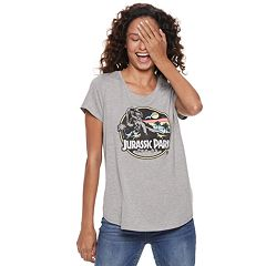 Juniors' Jurassic Park High-Low Graphic Tee