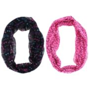 Girls 7-14 2-pack Pretty Paris & Heart Loop Infinity Scarves