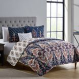 VCNY Kensington Damask Reversible Quilt Set