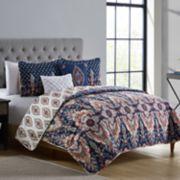 VCNY Kensington Damask Reversible Quilt Set