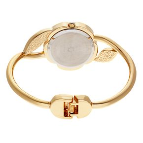 Studio Time Women's Floral Bangle Watch & Bracelet Set