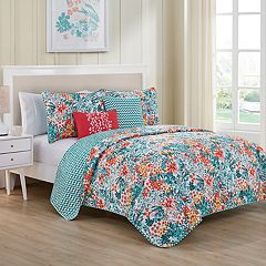 VCNY Kayla Chevron Reversible Quilt Set