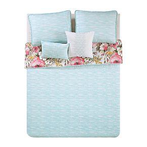 VCNY Lucia Floral Reversible Quilt Set