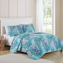 VCNY Natalya Reversible Striped Paisley Quilt Set