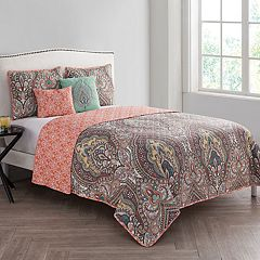 VCNY Palace Damask Reversible Quilt Set