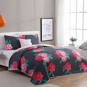 VCNY Rosemary Floral Quilt Set