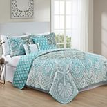 VCNY Home Tory Reversible Damask Quilt Set