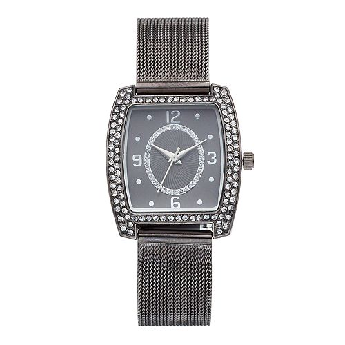 Women's Crystal Accent Mesh Watch
