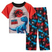 "Toddler Boy Jurassic World ""Save The Dinos"" Top & Bottoms Pajama Set"