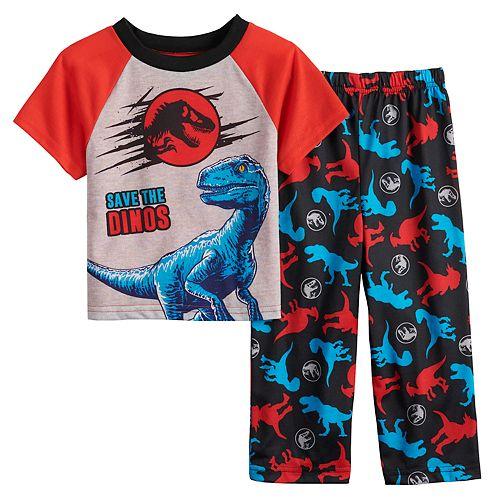 "Toddler Boy Jurassic World ""Save The Dinos"" Top & Bottoms Pajama Set"