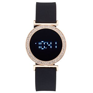 Women's Crystal Accent Digital Watch