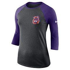 Women's Nike Clemson Tigers Raglan Tee