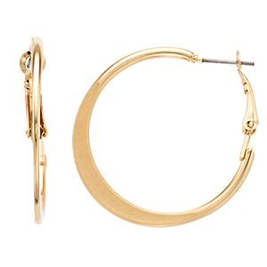 Sonoma Goods For Life? Gold Tone Flat Nickel Free Hoop Earrings