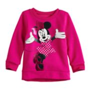 Disney's Minnie Mouse Baby Girl Foiled Graphic Softest Fleece Sweatshirt by Jumping Beans®