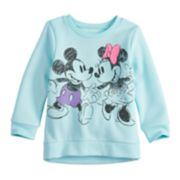Disney's Mickey & Minnie Mouse Baby Girl Glittery Graphic Softest Fleece Sweatshirt by Jumping Beans®